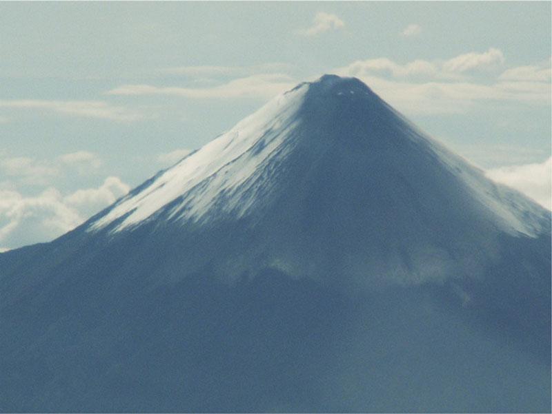 Top Van De Actieve Vulkaan De Tungarahua Bij Baños